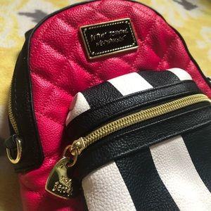 | Betsy Johnson Mini Backpack Shoulder Bag